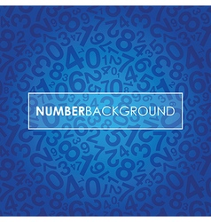 blue number background vector image