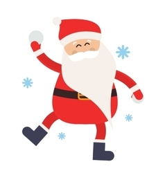 Cartoon santa snowball game winter vector