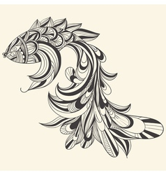 Concept monochrome fish vector