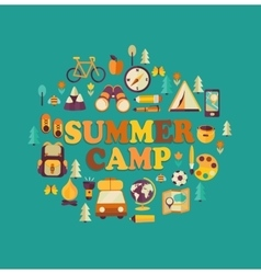 Summer camp themed vector