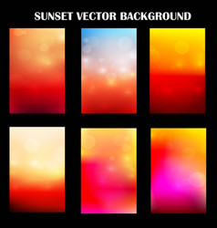 Abstract colorful sunset with light template vector
