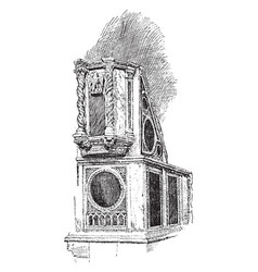 Ambo in the ara coeli a titular basilica in rome vector