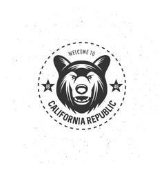 California republic t-shirt graphics vector image vector image