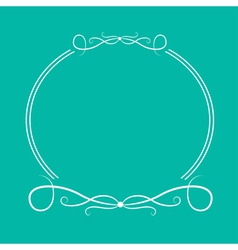 Calligraphic round frame 4 abstract design element vector