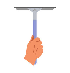 Cleaning concept with hand holding mop for washing vector