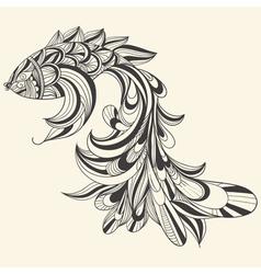 concept monochrome fish vector image