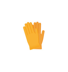 Flat working rubber gloves icon vector