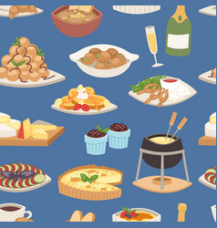 french food traditional delicious cuisine vector image
