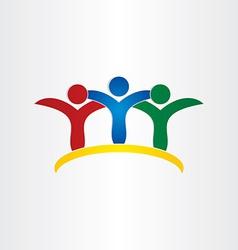 Friends kids children friendship concept icon vector