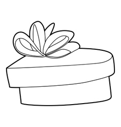 Gift icon outline style vector image