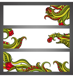 Headers vector image