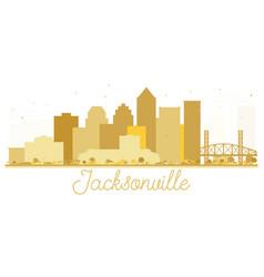 Jacksonville florida usa city skyline golden vector