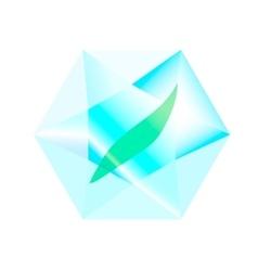 leaf inside a diamond vector image vector image