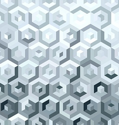 Metal silver isometric low poly seamless pattern vector
