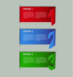 Modern paper progress option background vector image vector image