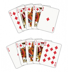 royal flush diamond vector image