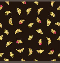 seamless pattern with doodle hand drawn vector image vector image