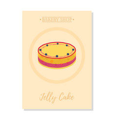 Set of pastry posterbanner for sale of jelly cake vector