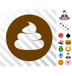 Shitcoin icon with bonus vector