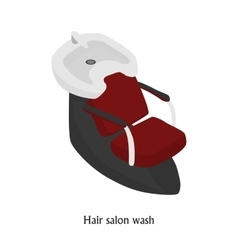 Sink for washing the hair in a beauty salon vector