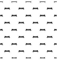 skateboard deck pattern vector image