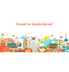 South korea banner design korean traditional vector