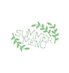 Summer menu calligraphic cafe board vector