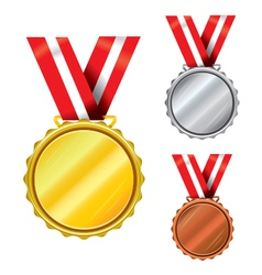 Three medals vector