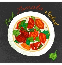 Tomato salad image vector