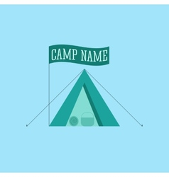 Tourist tent sign icon Camping logo vector image vector image