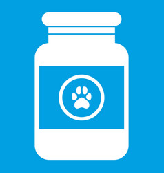 Treatment solution for animals icon white vector