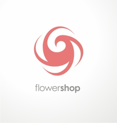 Unique flower logo design template for flower shop vector
