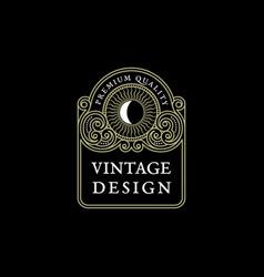 vintage label template vector image vector image