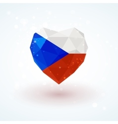Flag of the czech republic in shape diamond glass vector