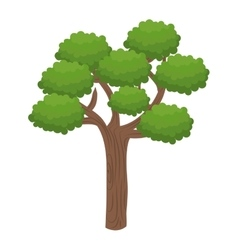 Green tall tree vector