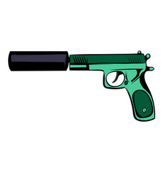 Pistol icon cartoon vector