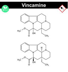 Vincamine drug molecular structure vector