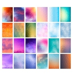 Set abstract modern poligonal background vector