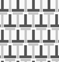Monochrome pattern with black gray t shapes vector