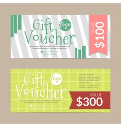 Gift voucher template  eps10 format vector