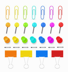 paperclips set on white vector image