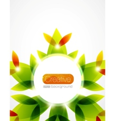 Shiny flower background vector