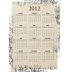 european beige calendar vector image