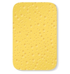 Yellow washing sponge vector
