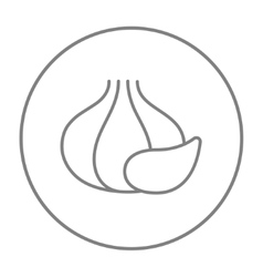 Garlic line icon vector