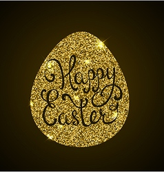 Luxury easter background with golden egg vector