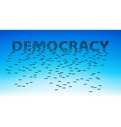 Democracy vector