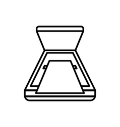 Open scanner icon outline style vector image