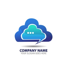 Cloud internet technology logo icon template vector
