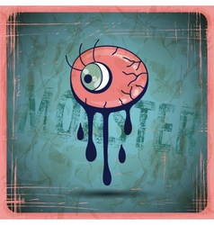 Eps10 vintage grunge old card monster vector
